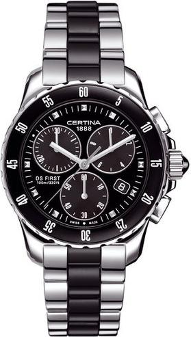 Certina C014.217.11.051.01 DS First Lady Ceramic - Chronograph