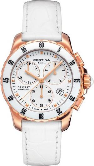 Certina C014.217.36.011.00 DS First Lady Ceramic - Chronograph